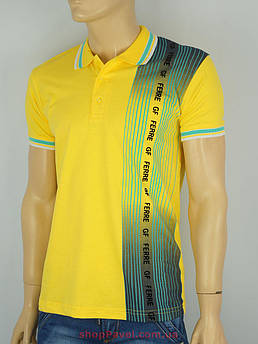 Чоловіча теніска GF FERRE PC-1368 жовтого кольору