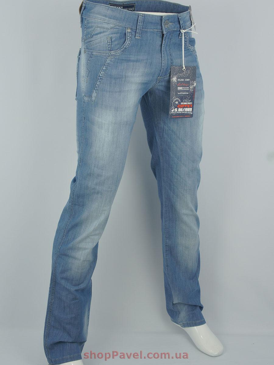 Стильні чоловічі джинси Differ E-1618-1 SP.435-11 блакитного кольору