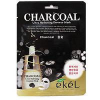 Корейская тканевая маска с древесным углем Ekel Charcoal Mask, фото 1
