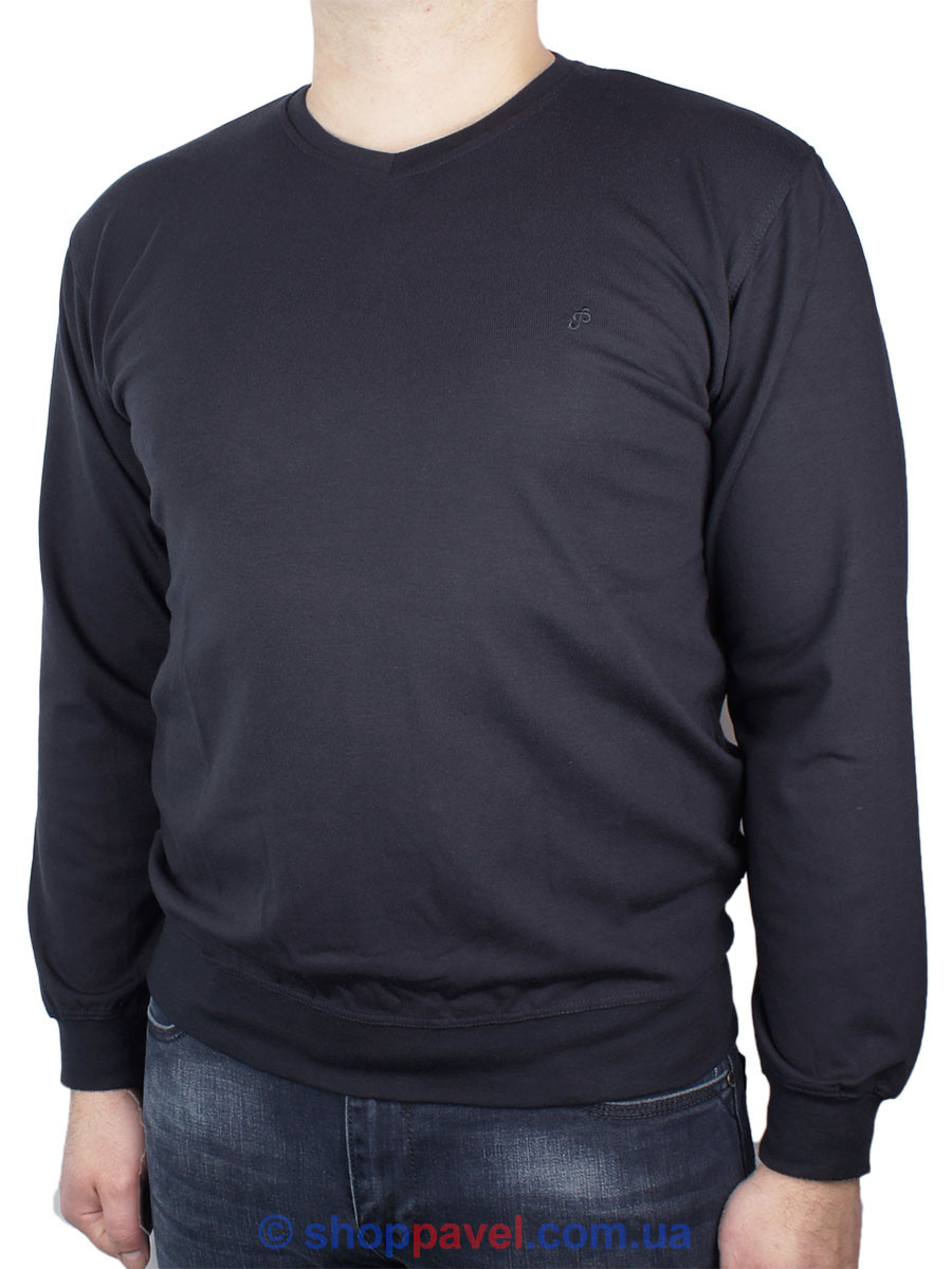 Стильний чоловічий лонгслив La Peron 0340 в темно-синьому кольорі