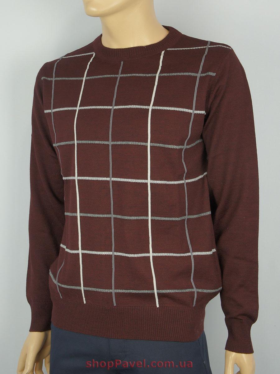 Чоловічий светр бордового кольору DLN 8600 Н