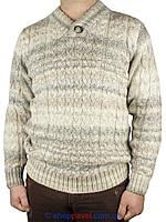 Чоловічий в'язаний светр Pulltonik з шалевим коміром Р-600-13 Н