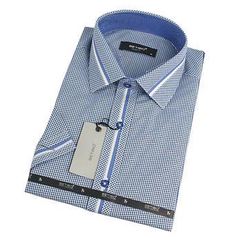 Сорочка чоловіча в клітинку та смужку Betibo 0350 H Slim