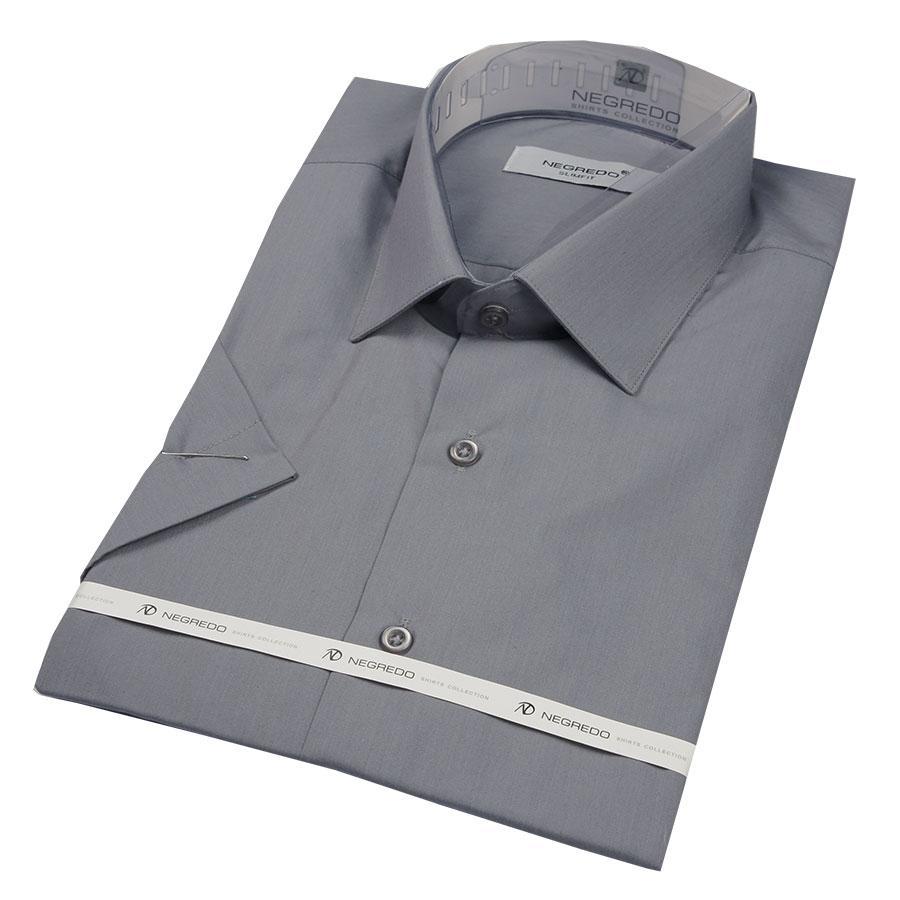 Чоловіча сорочка Negredo 29046 Slim сірого кольору