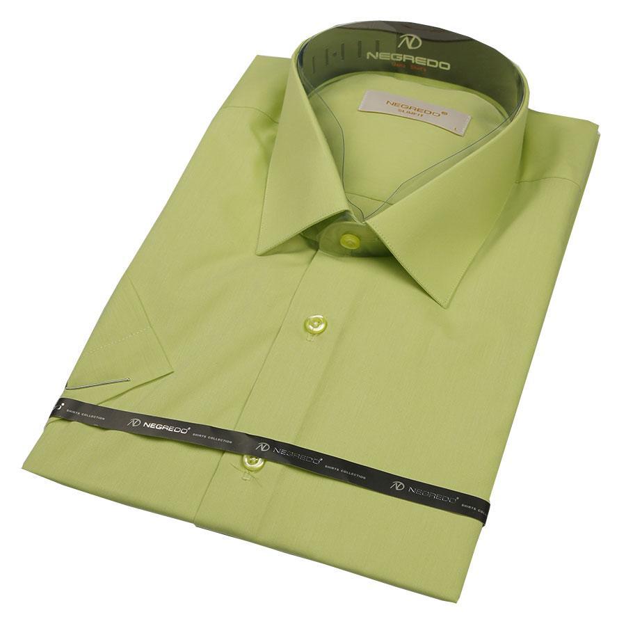 Чоловіча класична сорочка Negredo 27008 Slim салатового кольору