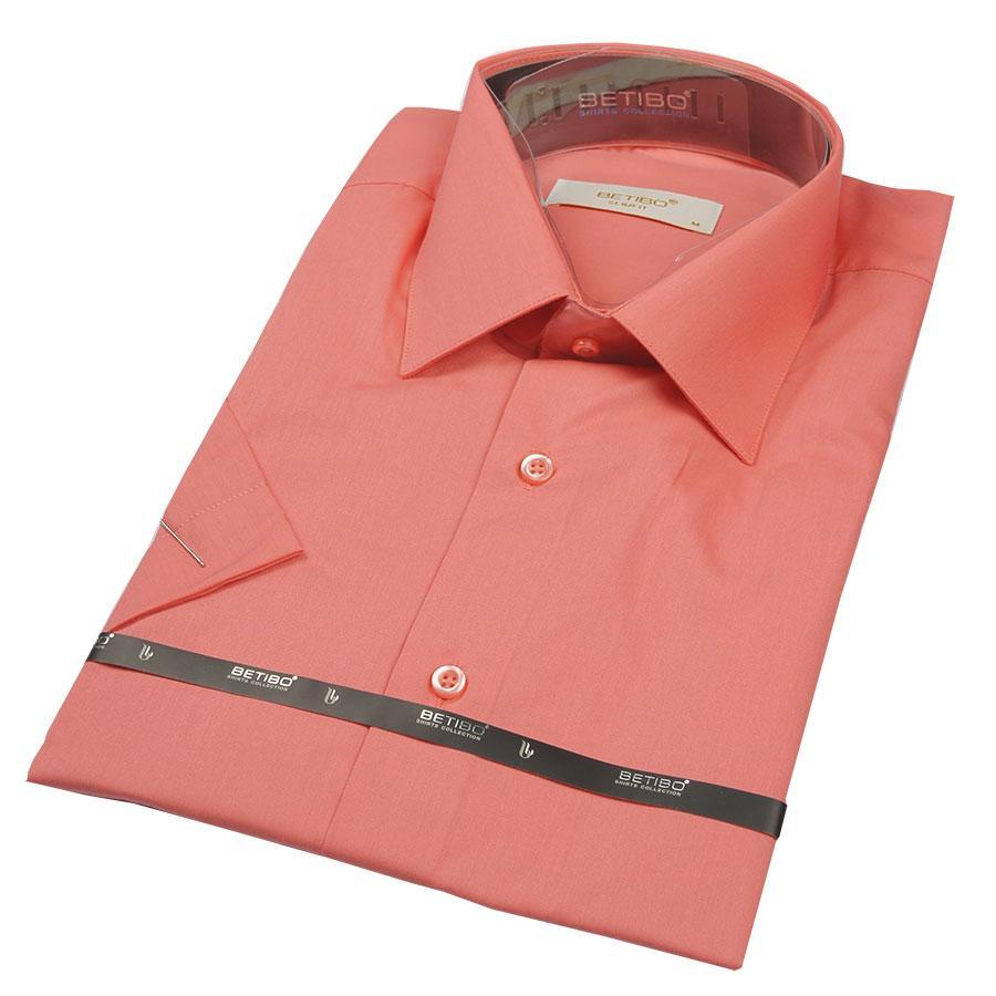 Чоловіча класична сорочка Negredo 23157 Slim в кораловому кольорі