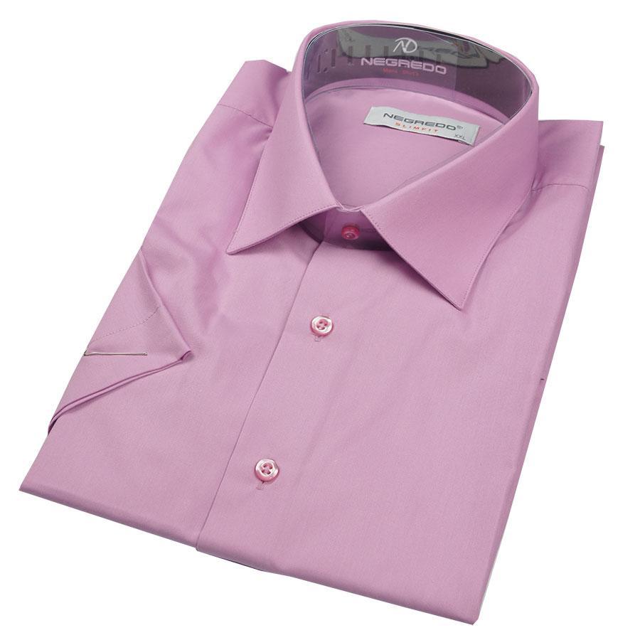 Чоловіча сорочка Negredo 31110 Slim рожевого кольору