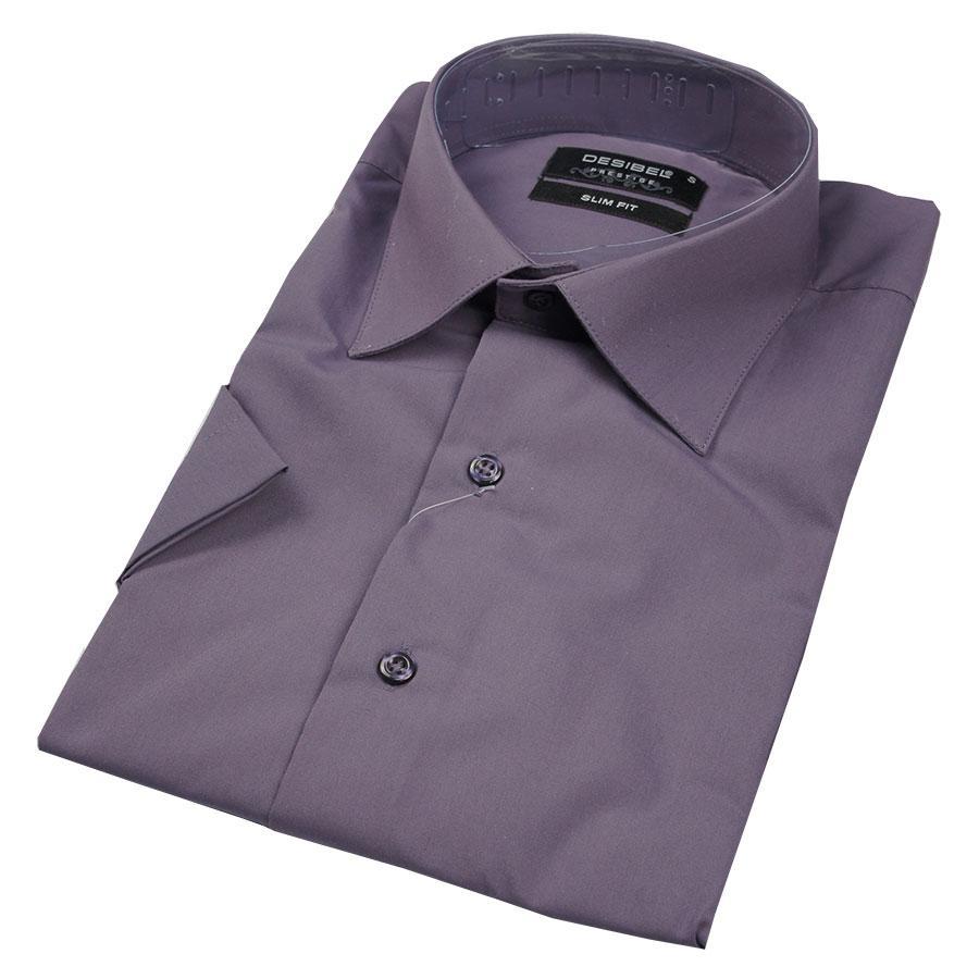 Чоловіча сорочка Negredo 31151 Slim темно-фіолетового кольору