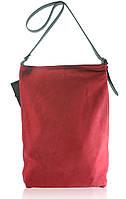 Кожаная сумка Shopper красная