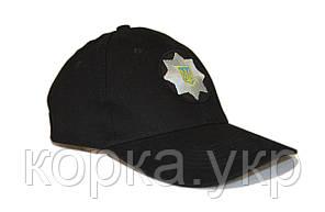 Кепка-блайзер черная Полиция 100% ХБ