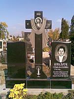 Гранитный крест с полотенцем: памятник гранитный  для двоих