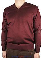Класичний чоловічий светр Wool Yurt 0250 Н мис бордовий