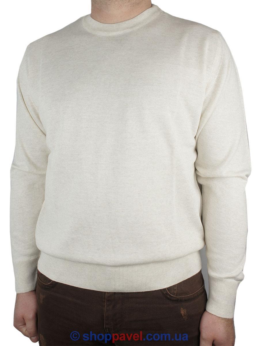 Чоловічий светр Wool Yurt 0250 Н коло в бежевому кольорі