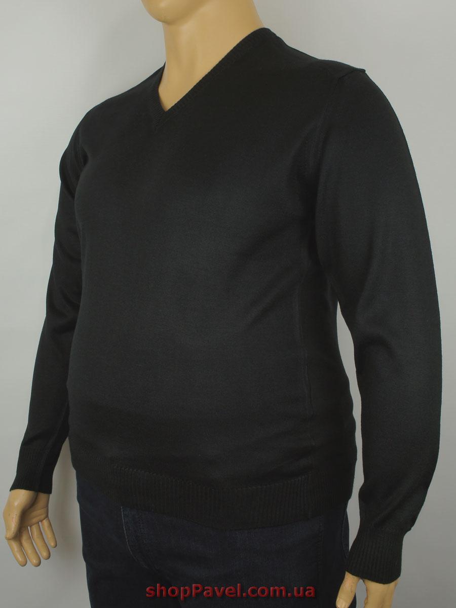 Чоловічий светр Wool Yurt 0380 В мис в чорному кольорі