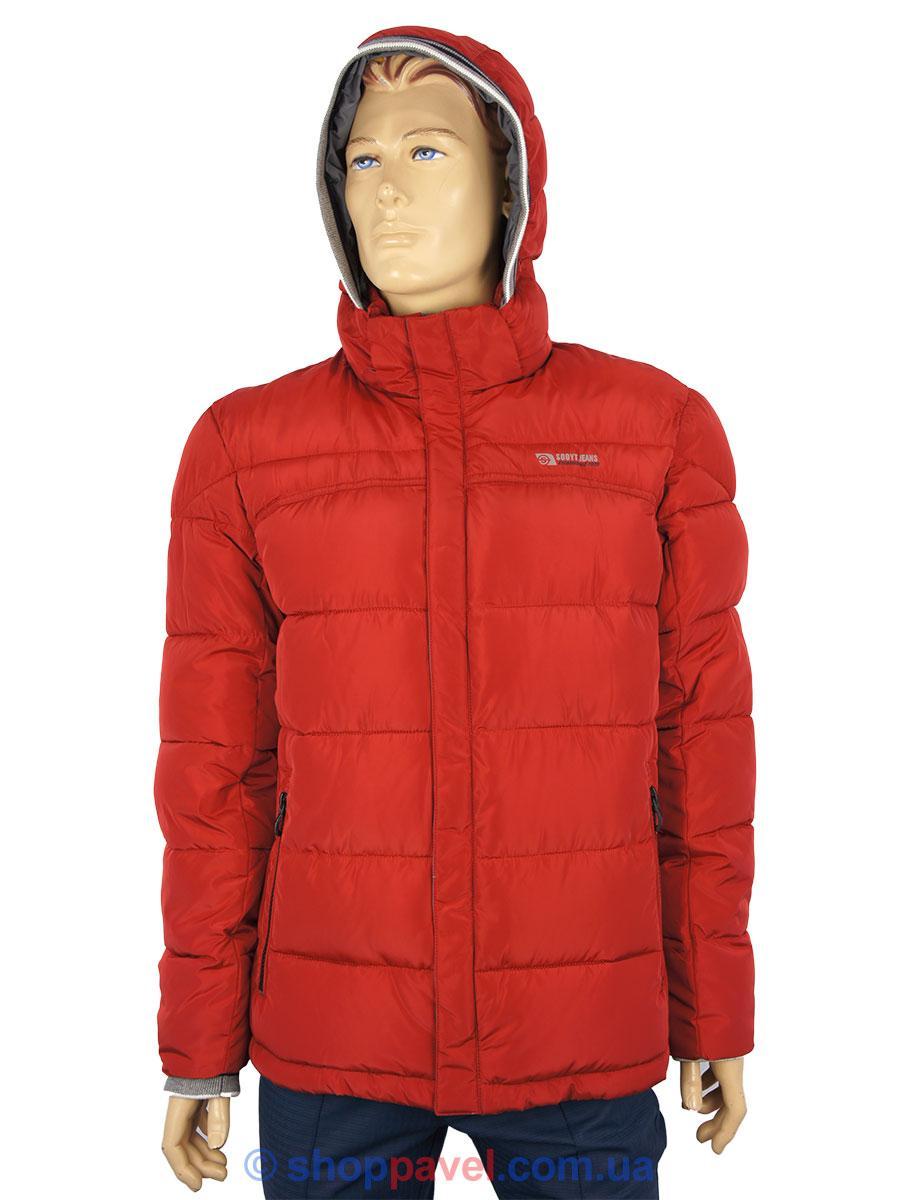 Червона чоловіча зимова куртка Sooyt Fashion M254 207#