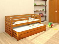 Кровать Симба из массива бука с дополнительным выдвижным спальным местом