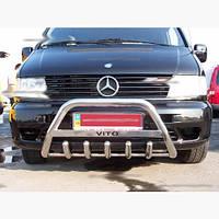 Защитная дуга на передний бампер WT004 для Mercedes Vito W638 (нерж)