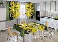 """Фото комплект для кухни """"Каприз"""" (шторы 1,5м*2,5м; скатерть 1,0м*1,2м)"""