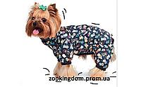 Дождевик для собак Pet Fashion Бердс L, длина спины 38-43 см, обхват груди 47-58 см