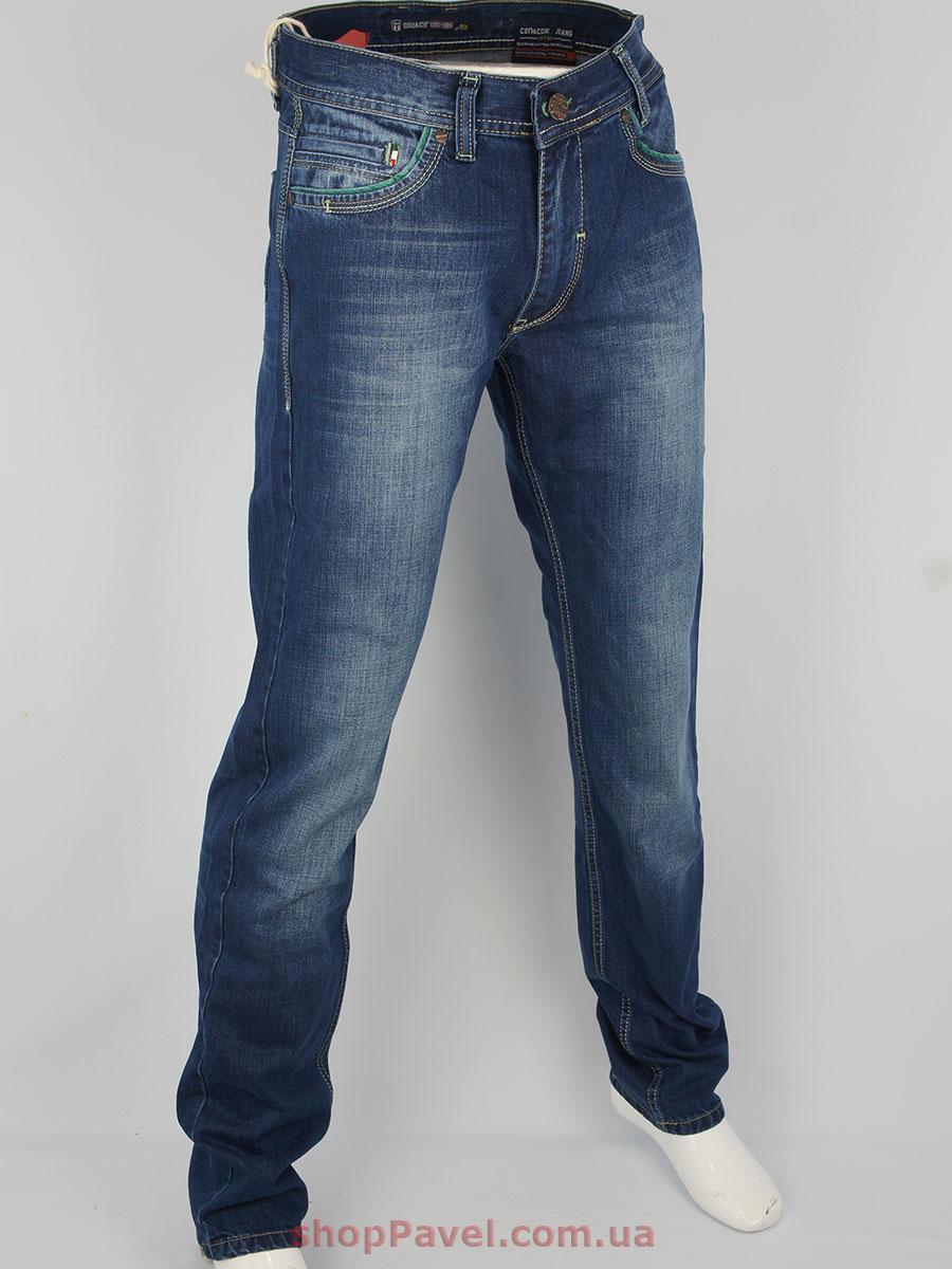 Стильні чоловічі джинси Cen-cor CNC-1196 синього кольору