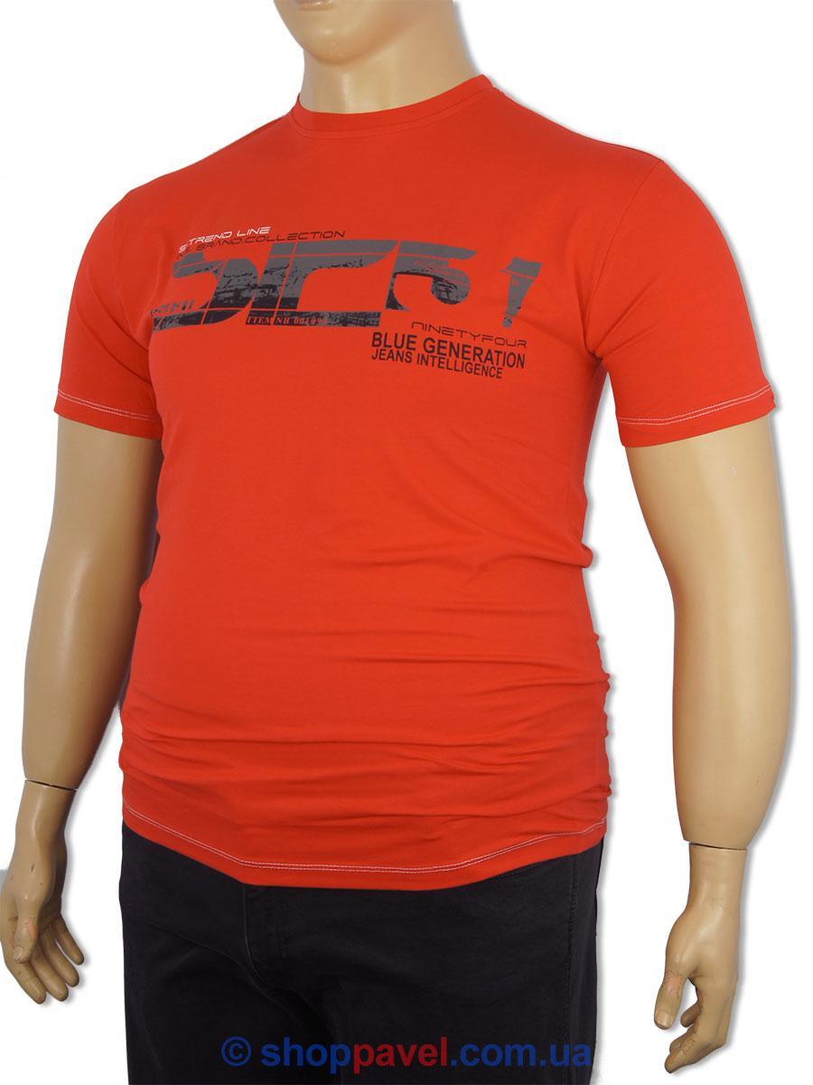 Чоловіча футболка MY TREND 1015 червона великих розмірів