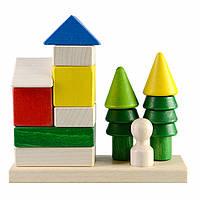 Деревянная игрушка Домик в  лесу в коробке