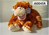 Обезьяна-орангутанг, одевается на руку, издаёт звук, 35см (30шт/ящ)