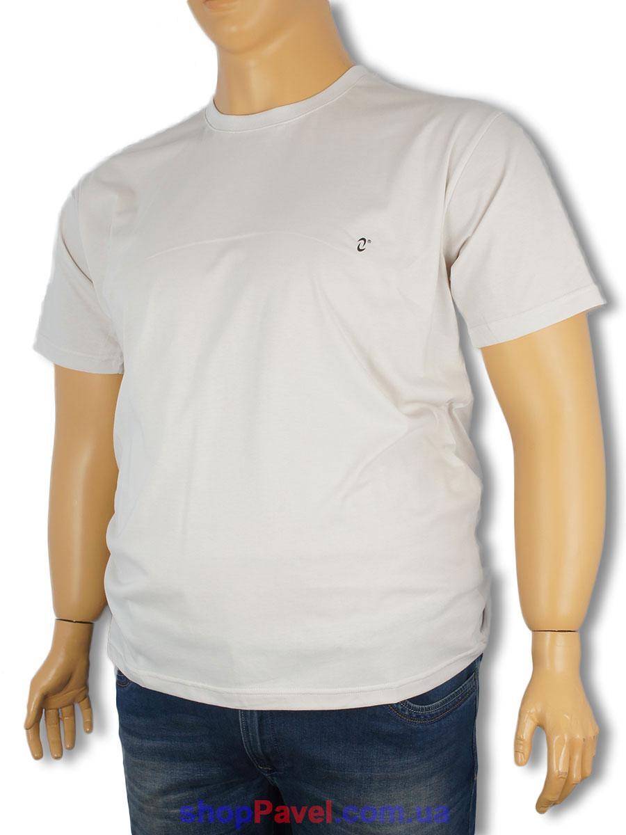 Чоловіча футболка Neti MSY-001/D біла великих розмірів