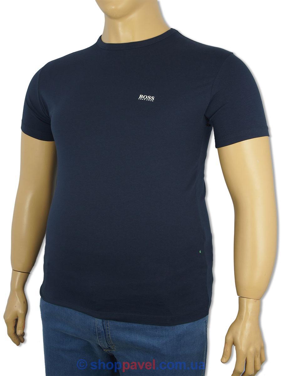 Темно-синя чоловіча футболка 501D-320 великого розміру