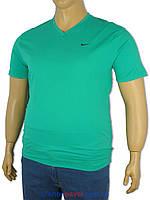 Чоловіча футболка Найк 4364 зелена великих розмірів