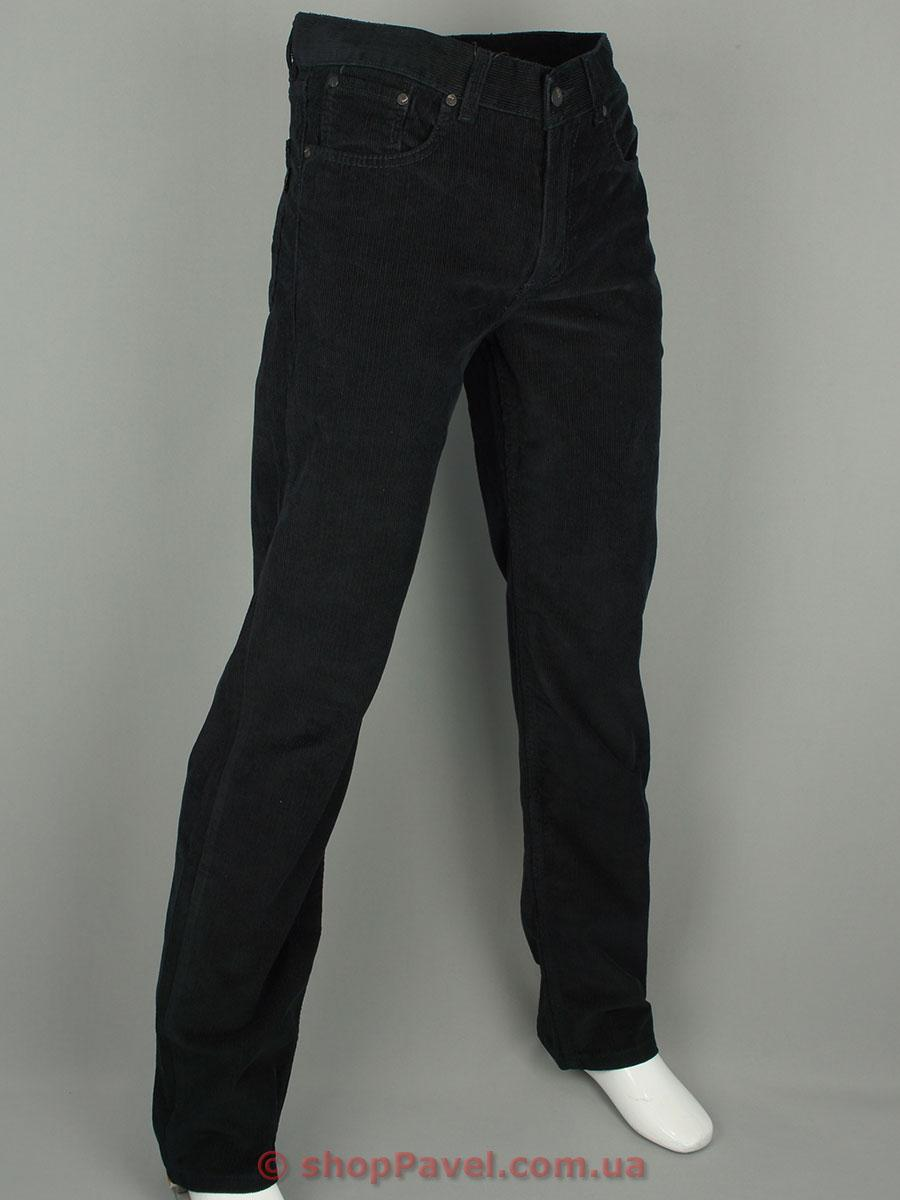 Чоловічі вельветові джинси 0480 в чорному кольорі