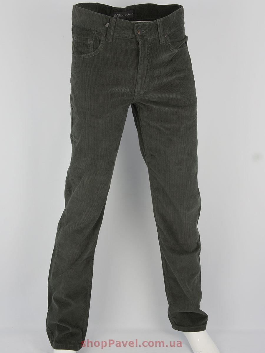 Чоловічі вельветові джинси 0480 в коричневому кольорі