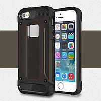 Чехол Apple Iphone 5 / 5S / SE противоударный бампер Armor Shield черный