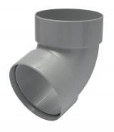 Отвод трубы 67 градусов пластиковый водосточный