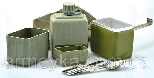 Армейский полевой набор посуды 8 предметов. Югославия, оригинал.