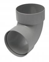 Отвод трубы 87 градусов пластиковый водосточный