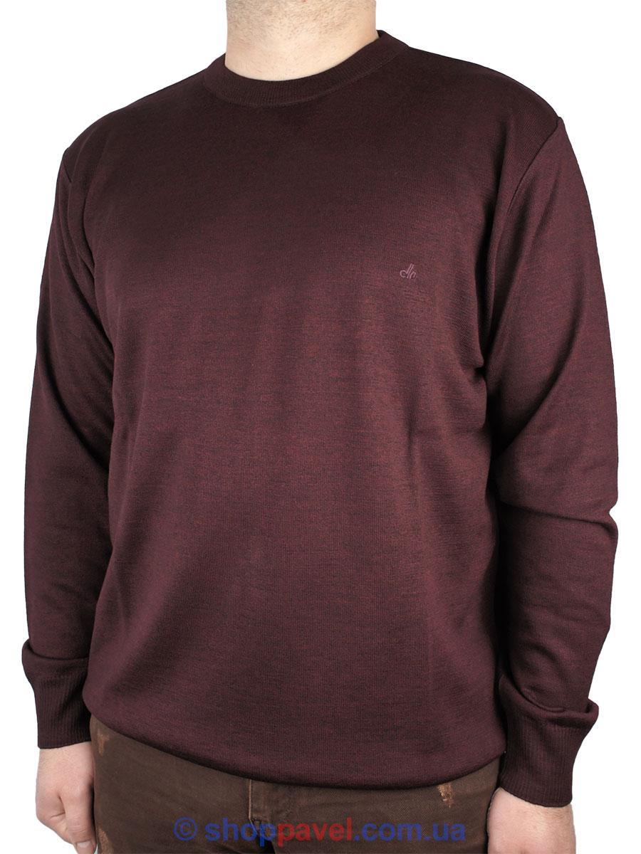 Класичний чоловічий светр DLN 0435 бордового кольору