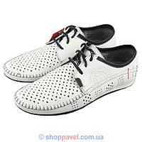 Туфлі чоловічі літні Lemar 872-6 білого кольору