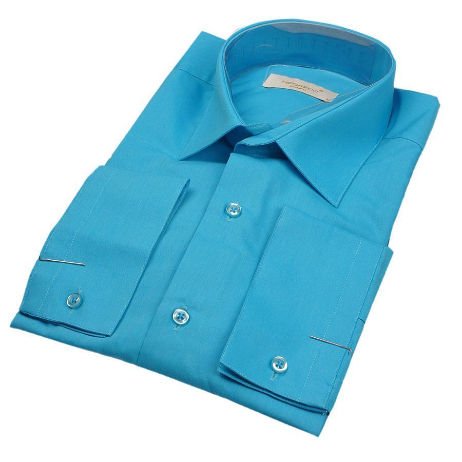 Чоловіча сорочка Negredo 28046 Slim світло-синього кольору