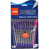 Ручка масляная MAXRITER Cello фиолетовая
