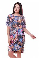Летнее женское платье с принтом Bonny FashionUp 42-48  размеры