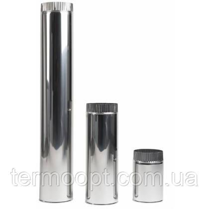 Дымоход двустенный из нержавеющей стали, с теплоизоляцией в нержавеющем кожухе 200/260