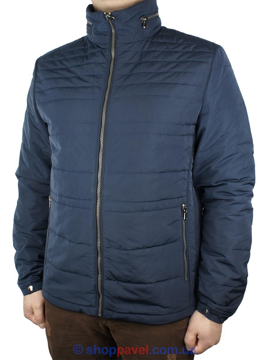Стильна чоловіча демісезонна куртка Santorio SM 8034 Indigo синього кольору