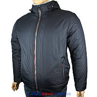 Чоловіча демісезонна куртка Black vinyl BTC17-810-1#2 великого розміру
