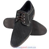 Взуття чоловіче літнє Minardi М-194 чорного кольору нубук 5782c1ae56c57