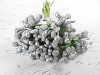 Декоративные веточки облепихи 10-12 шт/уп. серебристые, фото 1