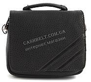 Удобная маленькая прочная мужская сумка с качественной PU кожи SAIFILO art. SF092-1 черный
