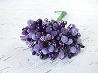 Декоративные веточки облепихи 10-12 шт/уп фиолетового цвета, фото 1