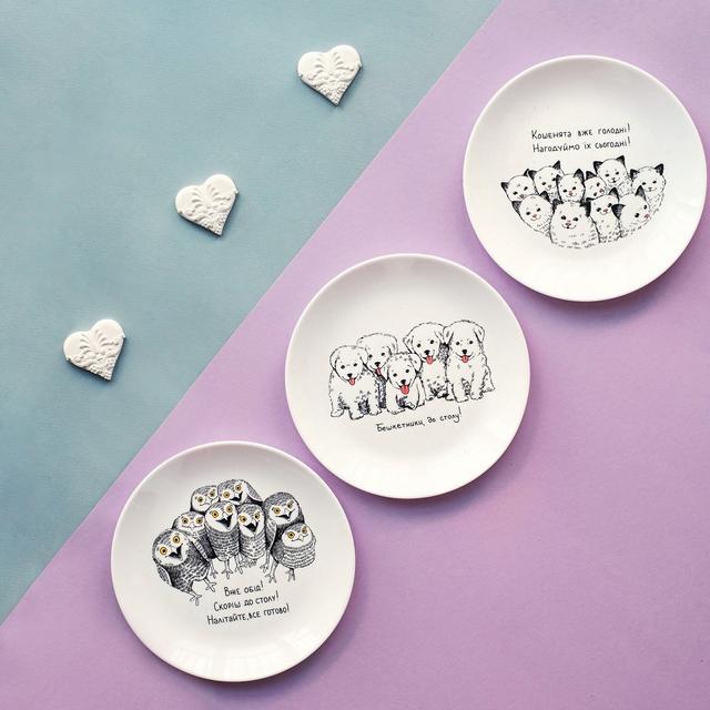Подарочные дизайнерские тарелки из керамики