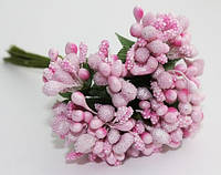 Декоративные веточки облепихи 10-12 шт/уп. розового цвета